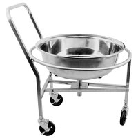 Stainless Steel Mobile Mixing Bowl Stand with 58 Liter Mixing Bowl
