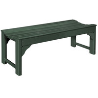 POLYWOOD BAB148GR Green 46 inch x 20 inch Traditional Garden Backless Bench