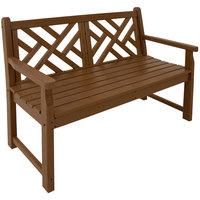 POLYWOOD CDB48TE Teak 47 1/2 inch x 24 1/4 inch Chippendale Bench