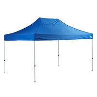 Backyard Pro 10' x 15' Blue Straight Leg Steel Instant Canopy