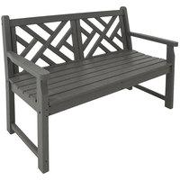 POLYWOOD CDB48GY Slate Grey 47 1/2 inch x 24 1/4 inch Chippendale Bench
