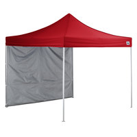 Backyard Pro AL Series 10' x 10' Red Straight Leg Aluminum Instant Canopy and Wall Kit