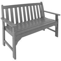 POLYWOOD GNB48GY Slate Grey 48 1/2 inch x 24 inch Vineyard Bench