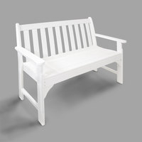 POLYWOOD GNB48WH White 48 1/2 inch x 24 inch Vineyard Bench