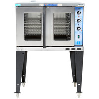 Bakers Pride GDCO-E1 Cyclone Series Single Deck Full Size Electric Convection Oven with Legs - 208V, 3 Phase, 10500W