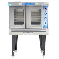 Bakers Pride GDCO-G1 Cyclone Series Liquid Propane Single Deck Full Size Convection Oven with Legs - 60,000 BTU