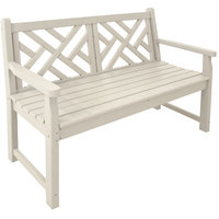 POLYWOOD CDB48SA Sand 47 1/2 inch x 24 1/4 inch Chippendale Bench