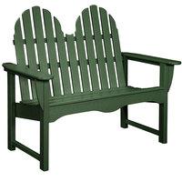 POLYWOOD ADBN-1GR Green 48 1/2 inch x 28 inch Classic Adirondack Bench