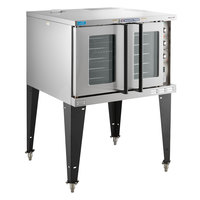 Bakers Pride BCO-E1 Cyclone Series Single Deck Full Size Electric Convection Oven with Legs - 208V, 1 Phase, 10500W