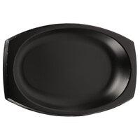 Dart 11PRBQR 11 inch Quiet Classic Black Laminated Foam Platter - 125/Pack