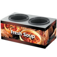 Vollrath 7203003 Twin 7 Qt. Well Soup Merchandiser Base with Country Kitchen Graphics - 120V, 700W