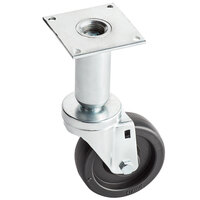 Pitco Equivalent 4 inch Swivel Adjustable Height Plate Caster for Fryers