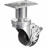 Pitco and Anets Equivalent 3 inch Swivel Adjustable Height Plate Caster with Brake for Fryers
