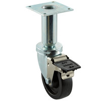 Pitco Equivalent 4 inch Swivel Adjustable Height Plate Caster with Brake for Fryers