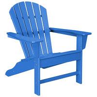 POLYWOOD SBA15PB Pacific Blue South Beach Adirondack Chair