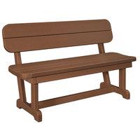 POLYWOOD PB48TE Teak 48 inch x 20 1/2 inch Park Bench