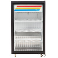 True GDM-7F-LD Black Countertop Display Freezer with Swing Door