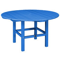 POLYWOOD RKT38PB Pacific Blue 38 inch Round Kids Dining Table