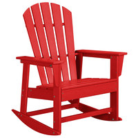 POLYWOOD SBR16SR Sunset Red South Beach Rocking Chair