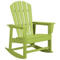 POLYWOOD SBR16LI Lime South Beach Rocking Chair