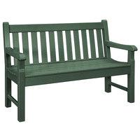POLYWOOD RKB48GR Green 48 inch x 24 inch Rockford Bench
