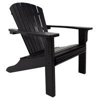 POLYWOOD SH22BL Black Seashell Adirondack Chair