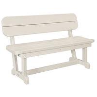 POLYWOOD PB48SA Sand 48 inch x 20 1/2 inch Park Bench