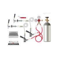 Micro Matic RCK-S2 Dual Keg Kegerator Door Mount Conversion Kit with Gas Cylinder