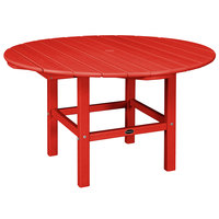POLYWOOD RKT38SR Sunset Red 38 inch Round Kids Dining Table