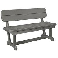 POLYWOOD PB48GY Slate Grey 48 inch x 20 1/2 inch Park Bench