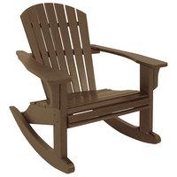 POLYWOOD SHR22TE Teak Seashell Rocking Chair