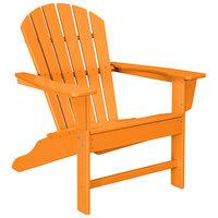 POLYWOOD SBA15TA Tangerine South Beach Adirondack Chair