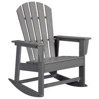 POLYWOOD SBR16GY Slate Grey South Beach Rocking Chair