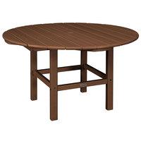 POLYWOOD RKT38TE Teak 38 inch Round Kids Dining Table