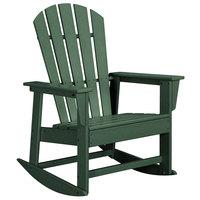 POLYWOOD SBR16GR Green South Beach Rocking Chair