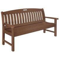 POLYWOOD NB60TE Teak 63 3/4 inch x 25 inch Nautical Bench