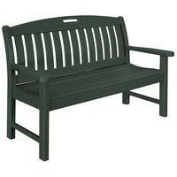 POLYWOOD NB48GR Green 51 3/4 inch x 25 inch Nautical Bench