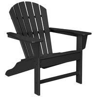 POLYWOOD SBA15BL Black South Beach Adirondack Chair