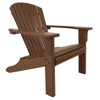 POLYWOOD SH22TE Teak Seashell Adirondack Chair