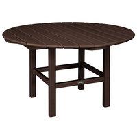 POLYWOOD RKT38MA Mahogany 38 inch Round Kids Dining Table