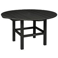 POLYWOOD RKT38BL Black 38 inch Round Kids Dining Table