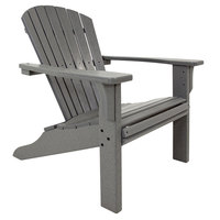 POLYWOOD SH22GY Slate Grey Seashell Adirondack Chair