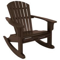 POLYWOOD SHR22MA Mahogany Seashell Rocking Chair