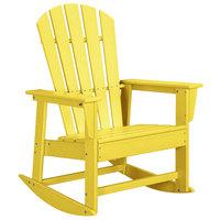POLYWOOD SBR16LE Lemon South Beach Rocking Chair