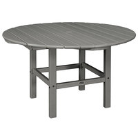 POLYWOOD RKT38GY Slate Grey 38 inch Round Kids Dining Table