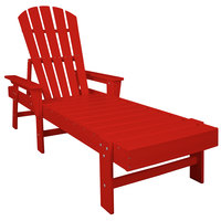 POLYWOOD SBC76SR Sunset Red South Beach Chaise