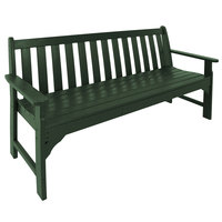 POLYWOOD GNB60GR Green 60 1/2 inch x 24 inch Vineyard Bench