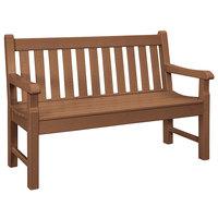 POLYWOOD RKB48TE Teak 48 inch x 24 inch Rockford Bench