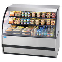 Federal SSRVS-7742 77 inch Combination Service Top Over Refrigerated Self-Serve Merchandiser - 42 inch High