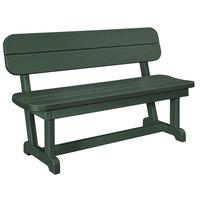 POLYWOOD PB48GR Green 48 inch x 20 1/2 inch Park Bench